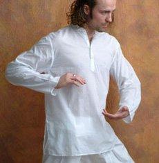 Organic White Kurta Shirt