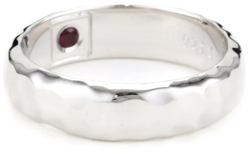 ELLE Jewelry Sterling Silver Hammered Ring, Size 7