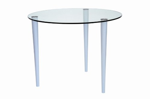 Pin Elbow 1000mm diameter frosted/coloured glass Table