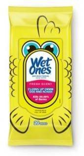 Wet Ones Antibacterial Household-Cleaning Wipes With Travel Pack, Fresh Scent, 20 Count front-849491