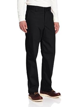Dickies Men's Regular Fit Poplin Work Pant, Black, 30x30