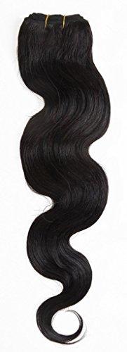 EOZY 24 Pouces Noir Trame de Cheveux Extensions de Cheveux Trame Humaines