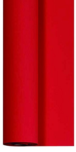 Duni Dunicel Tischdeckenrolle rot 0,90 m x 40 m, Tischdecke rot, Papiertischdecke rot, Tischdecke Hochzeit rot, Tischdeckenrolle rot, Tischdekoration rot