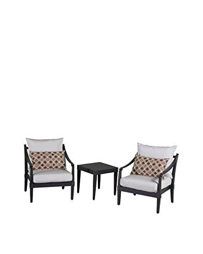 RST Brands Astoria Set of 2 Club Chairs & Side Table, Cream