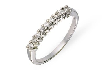 1/4 Carat Diamond 14K White Gold Semi Eternity Ring