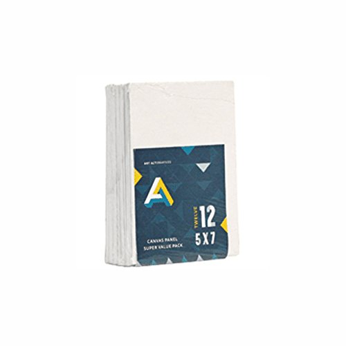 Art Alternatives Canvas Panel Super Value 5x7 Pack of 12 (Canvas Panels 5x7 compare prices)
