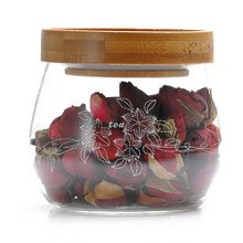 Glass Tea Jar with Bamboo Lid from Ecrossland