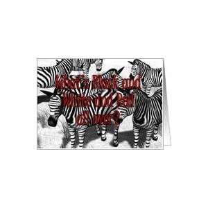 Amazon.com: Birthday Zebra Joke Card: Health & Personal
