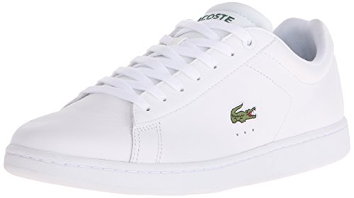 Lacoste Men's Carnaby Evo Lcr Casual Shoe Fashion Sneaker, White, 10.5 M US