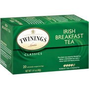 Twinings Of London Irish Breakfast Black Tea Bags, 20 Count, 1.41 Oz(Case Of 2)