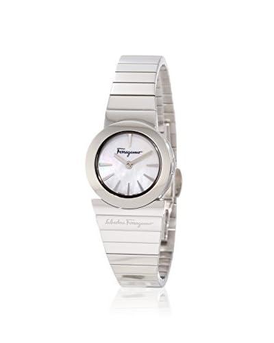 Salvatore Ferragamo Women's F70SBQ9991 S099 Gancino Soiree Silver/White Watch