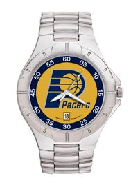 Indiana Pacers NBA PRO II Metal Sports Watch by Logo Art