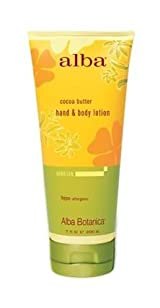 Alba Botanica Cocoa Butter Hand & Body Lotio, 7 oz