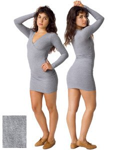 American Apparel Cotton Spandex Jersey Long Sleeve Criss-Cross Dress