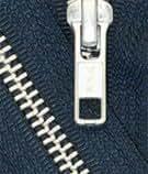 """34"""" Jacket Zipper, YKK #5 Aluminum Metal ~ Medium Weight ~ Separating ~ 560 Navy (1 Zipper/pack)"""