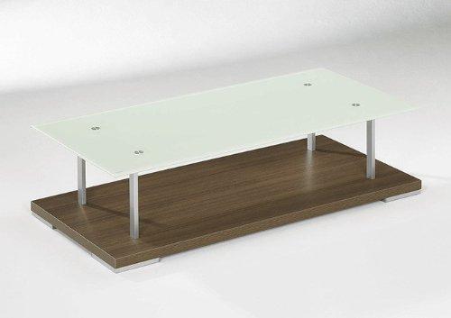 Couchtisch-Modell-4294-Nussbaum-118x58cm-Glas-satiniert