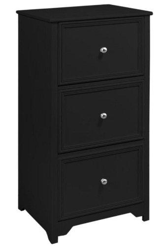 Oxford File Cabinet, 3-DRAWER, BLACK (3 Drawer File Cabinet Black compare prices)