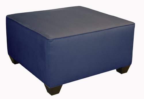 Fullerton Square Cocktail Ottoman by Skyline Furniture in Lazuli Micro-suede