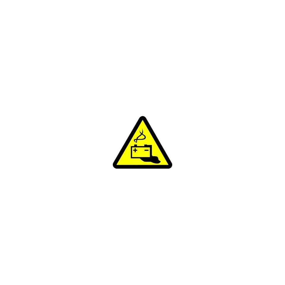WARNING Labels BATTERY HAZARD 2 Adhesive Dura Vinyl