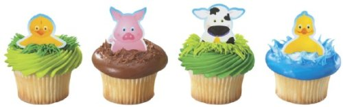Farm Animal Barnyard Theme Finger Puppet Cupcake