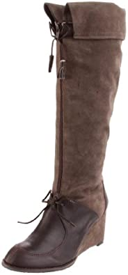Sachelle Women's Sharm Knee-High Boot,Taupe/Brown,8 M US
