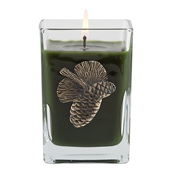 The Smell of the Tree Medium Glass Cube 12oz Candle by Aromatique