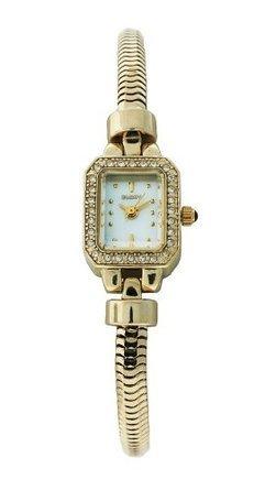 エルジン Elgin EG013 Womens Gold Plated Mother of Pearl Austrian Crystal Adjustable Watch 女性 レディース 腕時計 【並行輸入品】