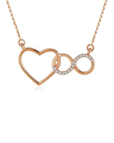 Divas Diamond Set catenina e pendente Diamond Heart Infinity