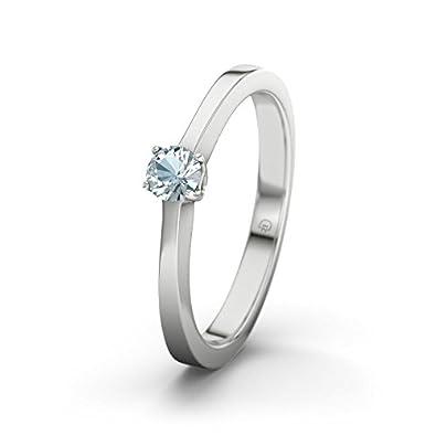 21DIAMONDS Ottawa Aquamarine Brilliant Cut Women's Ring-Silver Engagement Ring