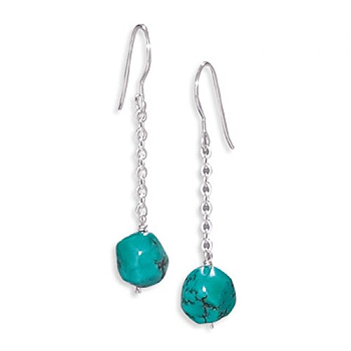 Turquoise Drop Earrings On French Wire