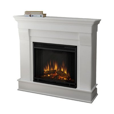 Real Flame 5910E Electric Fireplace, Small, White (Electric White Fireplace compare prices)