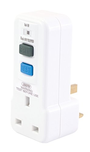 13 amp white RCD portable adaptor, (active/non-latching)