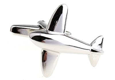 Jet Airplane Plane Cufflinks with a Presentation Gift Box