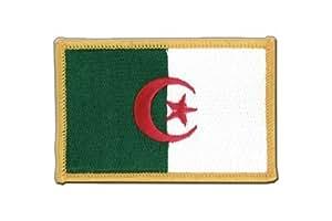 MaxFlags® écusson brodé drapeau Algerie 6x8cm
