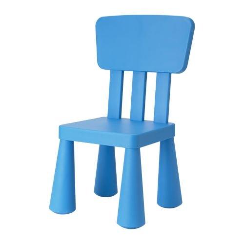 Ikea Patrull Kindersicherung ~   IKEA Kinderstuhl MAMMUT Kindermöbel Stuhl in BLAU unverwüstlich