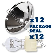 12 pcs. DYS 600w Bulb, 12 pcs. Par 56 Reflector Package Deal (B555)