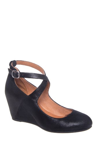 Gentle Souls Funtastic High Wedge Ankle Strap Pump