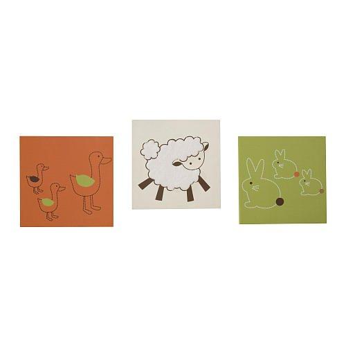 Lambs & Ivy Doodle Doo Wall Decor Set of 3 - 1