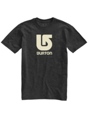 Burton T-Shirt Uomo Logo Vertical Shortsleeve Recycled, Nero, M