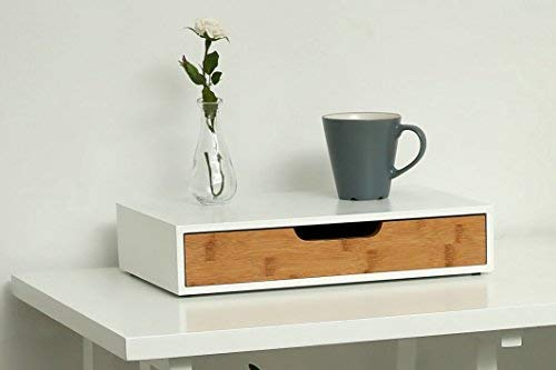Orolay Wall Shelf Hanging Wall Storage Shelf with One Drawer White