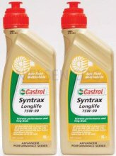 Castrol Syntrax Long Life 75W-90 Gear Oil CAS-1820-7160-2 - 2x1L = 2 Litre