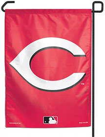 "MLB Cincinnati Reds Garden Flag, 11""x15"", Team Color"