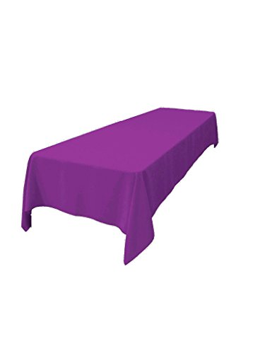 La linen polyester poplin rectangular tablecloth 60 by for 120 inch table linens