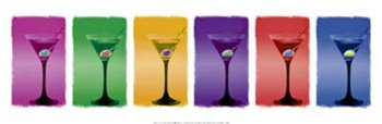 Martinis Rare Alcohol Drinking Pop Poster Art Print 12 x 36 inches