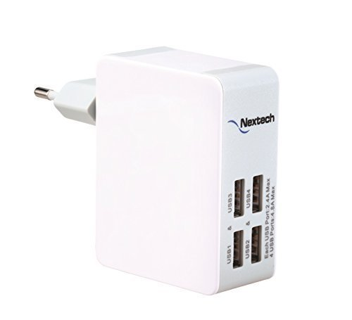 Nextech USB25 4-Port Travel Charger