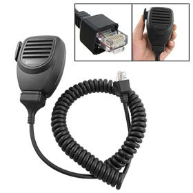 Blk Coil Cord Handheld Speaker Mic For Kenwood Tk-868G