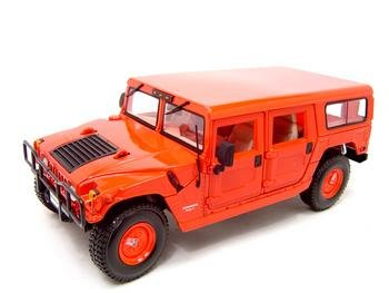 Buy Hummer H1 Red 1:18 Scale Diecast Model