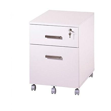 Simmob–Subwoofer di scrivania 2cassetti Ineo Bianco con portapenne
