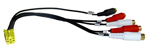 1600P-Autoradio-Adapterkabel-fr-VW-Golf-4-Passat-B5-3B3BG-Lupo-Bora-Polo-9N-uvm-6-Pin-Mini-ISO-auf-5-x-CinchRCA-Ideal-fr-den-Anschluss-einer-EndstufeVerstrker-am-Werksradio-OEM-Autoradio-von-BECKER-GR