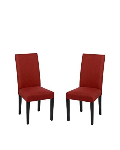 Armen Living Set of 2 Side Chairs, Pimento